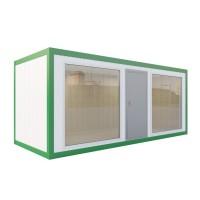 Аренда блок контейнера -павильон (МДФ, панорамное остекление по трем сторонам)