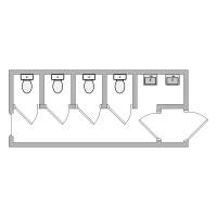Аренда cантехнического блока с туалетными кабинками