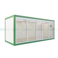 Офисный блок-контейнер с панорамным остеклением