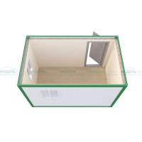 Дачный блок-контейнер с двумя окнами Эконом