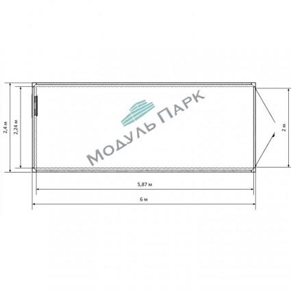Складской блок-контейнер  №1