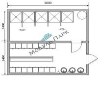 Модульное здание раздевалок №2