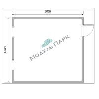 Модульное здание (ЛДСП)