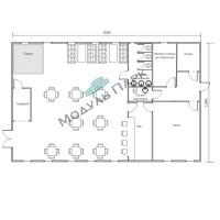 Модульное здание для бизнеса №1