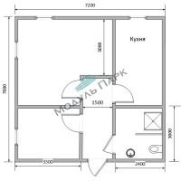 Модульное здание дачный дом №2