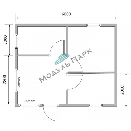 Модульное здание для насосных станций №2