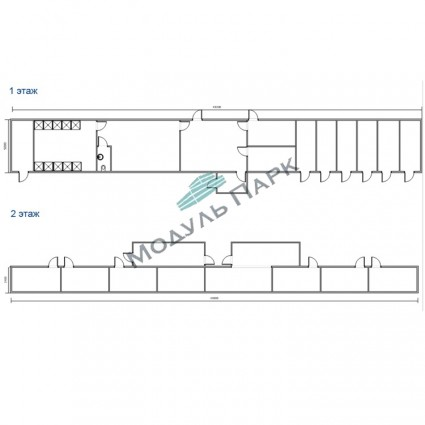 Модульное здание для спорта №3