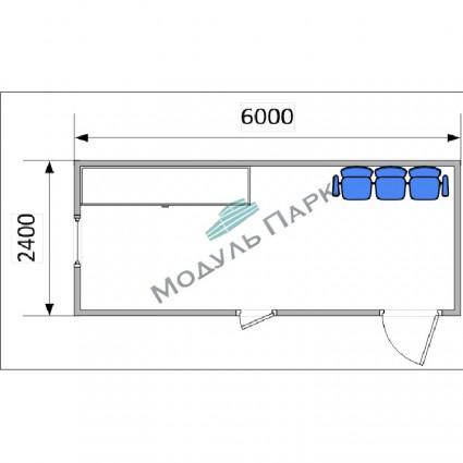 Блок контейнер промышленный №1