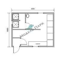 Модульное здание раздевалок №5