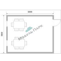 Модульное здание (ЛДСП с мебелью)