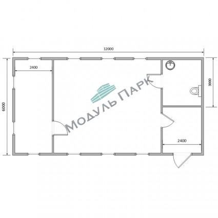Модульное здание для бизнеса №6