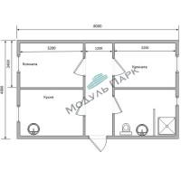 Модульное здание дачный дом №1