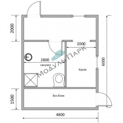 Модульное здание для дачи №3
