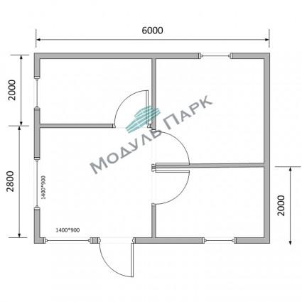 Модульное здание для оборудования №2