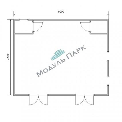 Модульное здание для оборудования №4