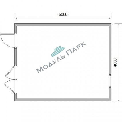 Модульное здание для насосных станций №1