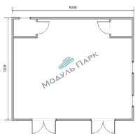 Модульное здание для насосных станций №4