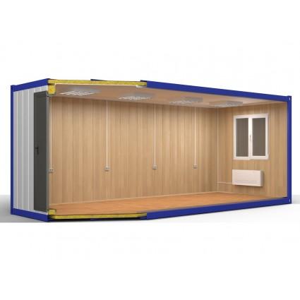 Блок контейнер №1 из сэндвич панелей 24 футов