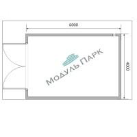Модульное здание из сэндвич панелей гараж 1